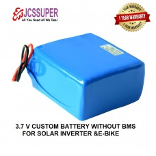 JCSSUPER  Lithium Ion Battery Pack 100 Ah li-ion 3.7V For Solar Inverter E-Bikes Custom Series Without Bms