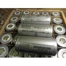 JCSSUPER LifePO4 Phosphate li-Ion 3.2v 32650 Cells 6000 mAH 2000 Cycles Rechargeable With 1 Year Warranty LIPO4