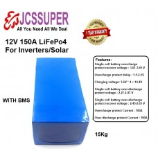 12 V 150 Ah Battery Pack For Home Inverter Solar And Commercial Use 1 Year warranty 2000 -3000 cycle life