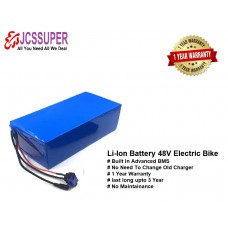 JCSSUPER LITHIUM ION BATTERY PACK 120 AH 52 V FOR E-Rickshaw E-BIKES Solar Inverter 1 YEAR WARRANTY