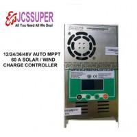 JCSSUPER MPPT Solar Wind Charge Controller 60A 12V 24V 36V 48V Lead Acid Lithium and AGM Battery Max 160v Input