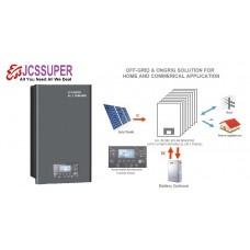 JCSSUPER 3000W 24V ON-GRID OFF-GRID HYBRID SOLAR INVERTER MPPT 80A 230VAC 450VDC PV INPUT